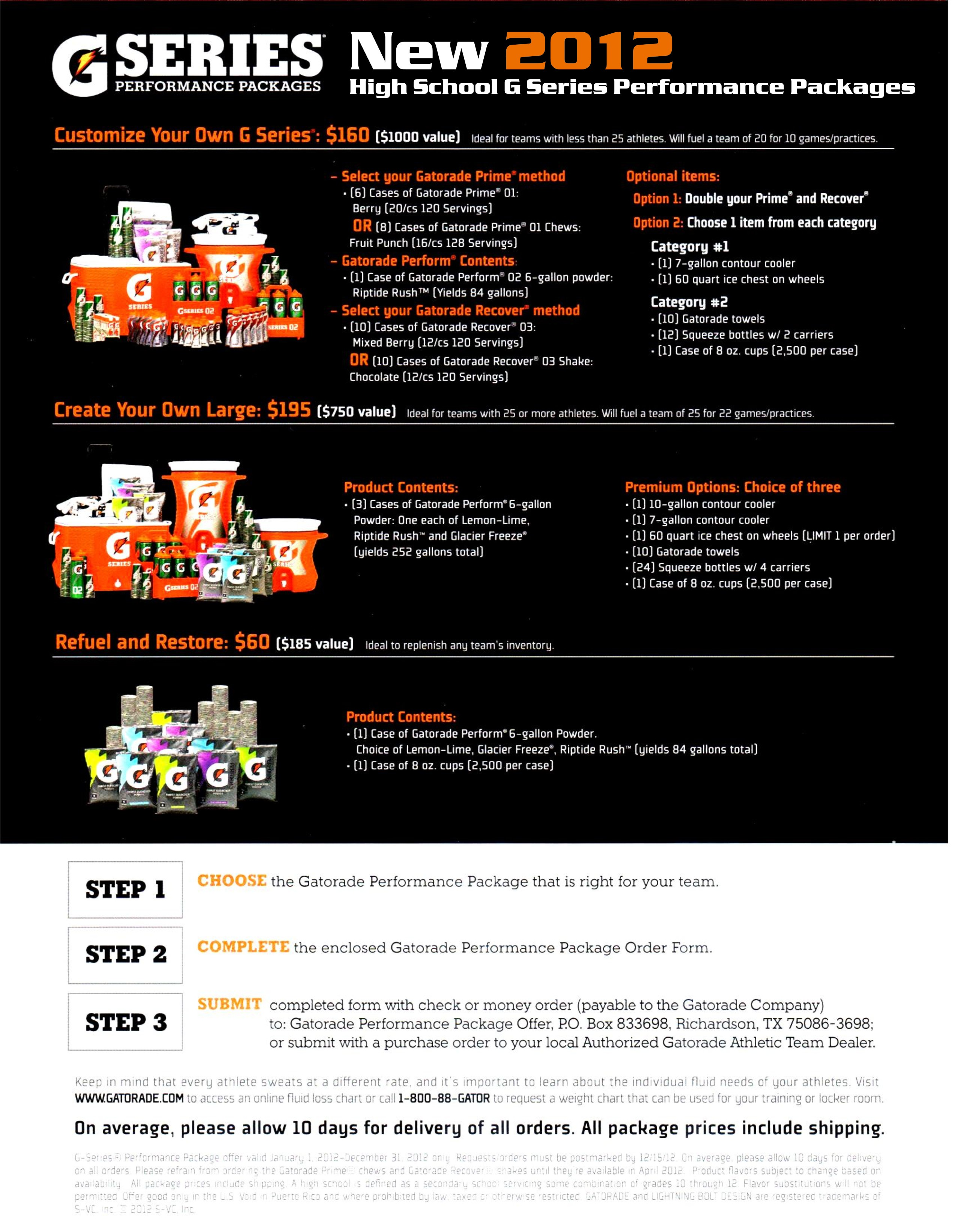 Gatorade performance package promotion sports line hawaii click nvjuhfo Image collections